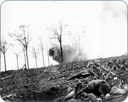 Chavasse in the trenches in front of Guillemont, on the Somme