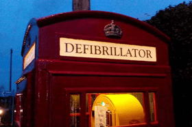 BT phone box Defibrillators, real life savers for all communities